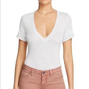 Free People Me Oh My V Neck T Shirt Bodysuit